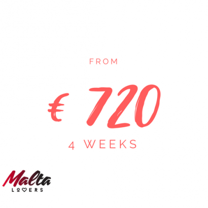 4 week. Study English in Malta for €720