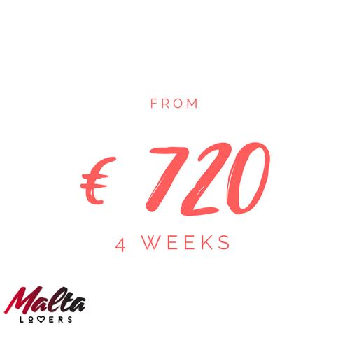 4 week. Study English in Malta for €720