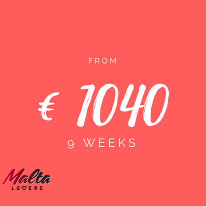 9 week. Study English in Malta for €720