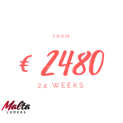24 week. Study English in Malta