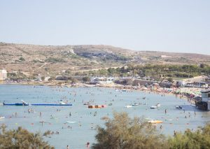 Malta's blue flag beaches: Ghadira beach