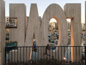 The Spinola Bay Love monument is a must see on the Hop-on Hop-off Bus tour